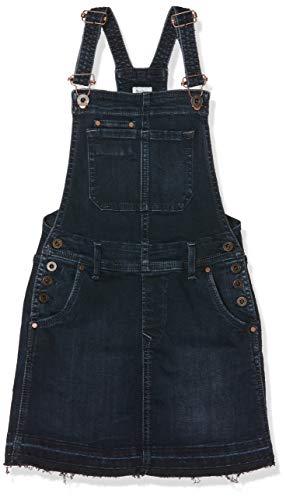 Pepe Jeans Mädchen Kaia Dress Kleid, (11oz Dark Used Od Black Denim 000), 7-8 (Herstellergröße: 7/8 Jahre)