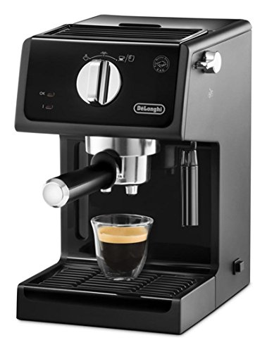DE LONGHI ECP31.21 Espressomaschine, manuell, Kapazität 1,1 Liter, Leistung 1100 Watt, Farbe Schwarz