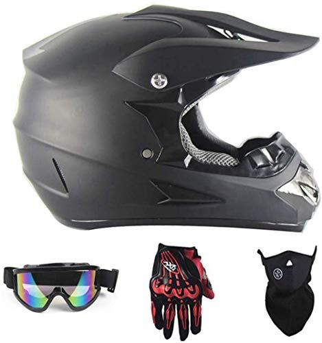 AGVEA Motocross Helme,Adult Off Road Helm mit Handschuhe Maske Brille,Motorrad Crosshelme & Endurohelme Jugend Kinder Offroad Helm Motocross Gear Combo Mask Brillenhandschuhe (S)