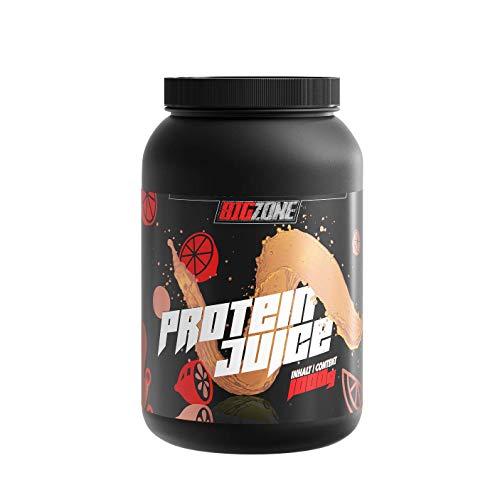 Big Zone Protein Juice Eistee Zitrone   Protein Whey Isolat   Erfrischungsgetränk Charakter und Konsistenz   Hoher Proteingehalt   Eiweisspulver niedrige Zucker- & Fettwerte   1000g