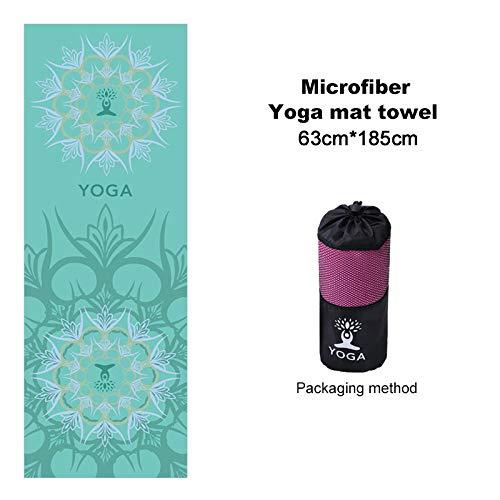 N / A Yoga Mat Cover Toalla Sudor Antideslizante Toalla de Microfibra Gym Pilates Mantas de impresión portátiles Mat para Fitness Yoga Stud 185cmX 63cm