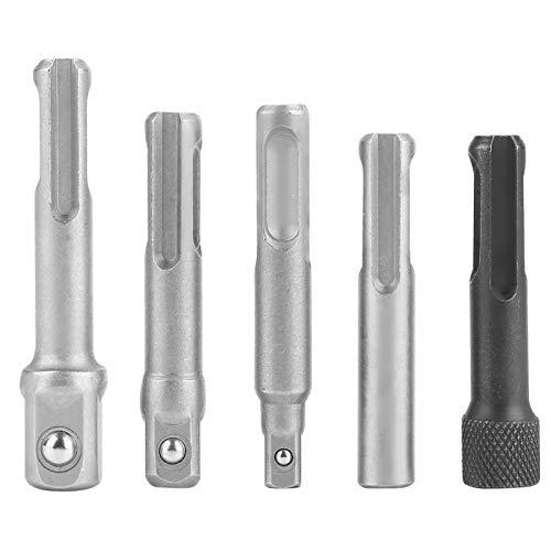 Adaptador de enchufe de acero SDS Plus de 3 piezas, accesorios de herramientas eléctricas de extensión hexagonal de enchufe SDS de 2 piezas, adaptador de llave de enchufe para herramientas eléctricas