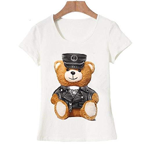 Sommermode DamenKurzarm T-Shirt weiße Tops