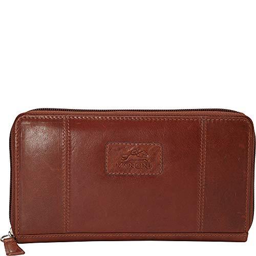 Mancini Leather Goods Casablanca Collection: Ladies' Medium RFID Clutch Wallet