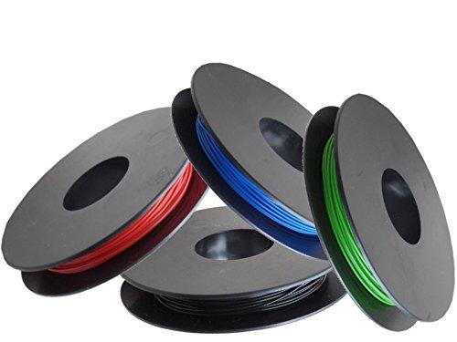 LiYv Schaltlitzen-Sortiment, 0,25 mm², Kupfer verzinnt, 4x 25 m Spulen, rot/schwarz/grün/blau