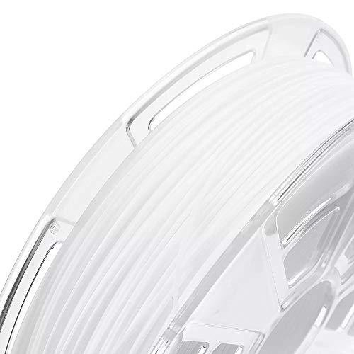 Junlianxianyanglijua 3D Pen Filament Noir/Blanc/Gris/Citron Vert/Jaune 1 kg/Rouleau 1.75mm ABS Filament for la 3D Imprimante, Faible Poids (Color : White)