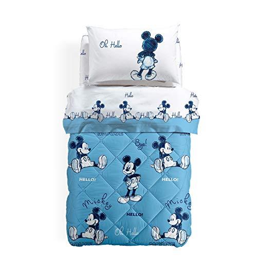 Caleffi Mickey ok Trapunta, Cotone , Unica, Singolo, 80019 , Disney