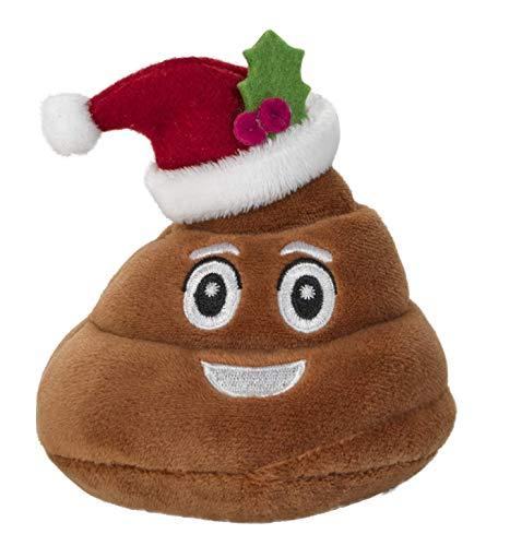 Farting Santa Poop Emoji Toy - Talks & Makes 7 Funny Fart Sounds - Squeeze to Activate these Cute Poop Toys - Funny Christmas Toy - Stocking Stuffer & Gag Gift for The Holidays - Measures (4 x 4.5)