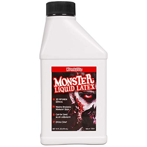 Kangaroo's Monster Liquid Latex - 16oz Pint - Creates Monster / Zombie Skin and FX
