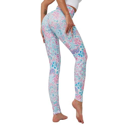 QTJY Pantalones de Yoga Transpirables y de Secado rápido Leggings elásticos de Cintura Alta Leggings Deportivos para Correr al Aire Libre I L