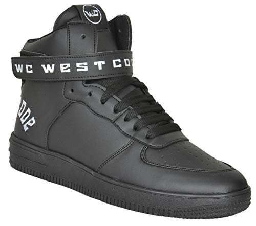 West Code Mens Synthetic Leather Casual Hip Hop Shoes 1218 Black 8 Size