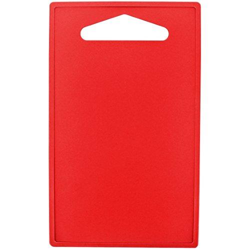 Promobo - Planche à decouper Plateau Repose Plat Presentation Apéro Rouge