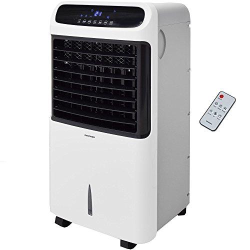 Syntrox Germany 4 in 1 Luftkühler Luftbefeuchter Lufterfrischer und Ventilator mit Touch Panel und Fernbedienung Luftdurchsatz 1200 m³/h AC-80W-12L Wind