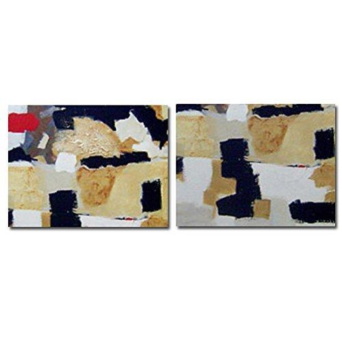Cuadro Díptico Abstracto Moderno, Medidas 2(140x90) cm