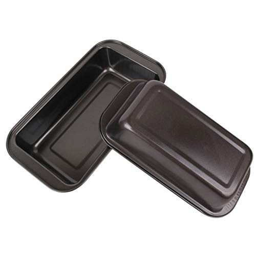 Aitaolian Toolsfoodsmall Bread Pans For Baking Nonstick, Rectangular Toast Cake Mold Bread Pan, Black, Pack Of 2
