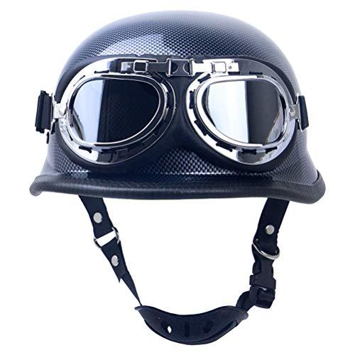 Casco de motocicleta retro vintage de cara abierta para motocicleta, casco de motocicleta