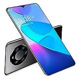 Mate45 Pro + Smartphone desbloqueado, 6.26in HD Full Fit para pantalla Waterdrop, 1 + 8G CPU Quad-Core Reconocimiento facial Tarjetas dobles Teléfono inteligente de doble modo de espera(Negro)