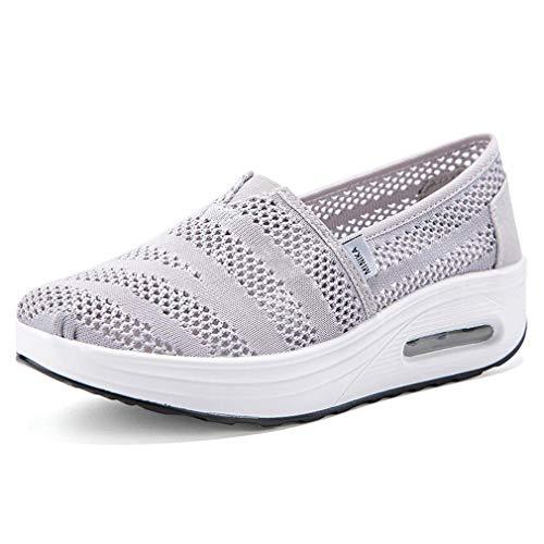 Zapatos Deporte Mujer Zapatillas Deportivas Moda Sandalias de Verano Mocasines de Plataforma Casuales Zapatillas de Lona para Mujer Cuña