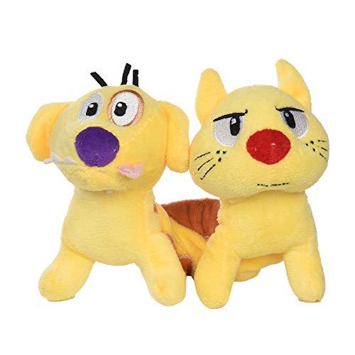 Nickelodeon Catdog Spiral Stretch Plush Dog Toy | 7 Inch Soft Toys for Dogs Nickelodeon Toys - Catdog Toys for Dogs from Nickelodeon 90s | Nickelodeon Small Plush Toys for Dogs