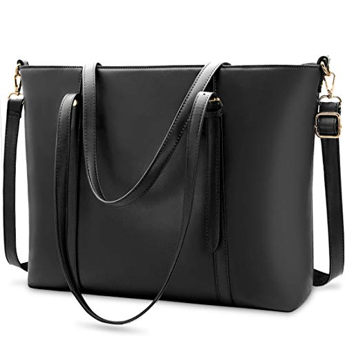 Laptop Bag for Women Lightweight Leather Work Tote...