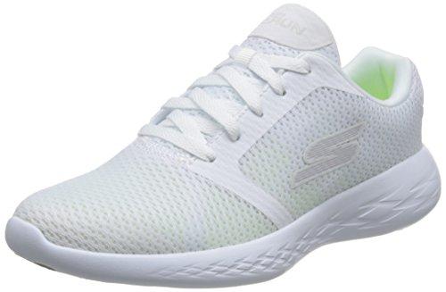 Skechers Women Go 600-Refine White Running Shoes-4 UK (7 US) (15061-WHT)