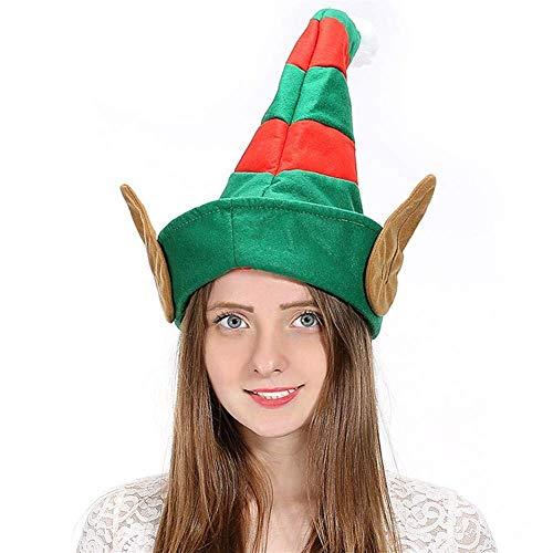 WXDP Bufanda de otoño e Invierno,Sombrero de Navidad Familia Al Aire Libre Grueso No Tejido Sombrero Creativo Sombrero Decoración de Navidad Suministros de Navidad (Color: B)
