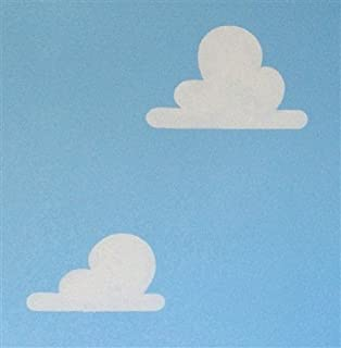 Cloud Stencil Set for Wall Decor: Reusable Stencils for a Kid's Toy Story Room or Andy's Room Nursery, 2-Pack Includes 1 Large and 1 Small Cloud Stencil