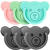 Socket Car Mount for Phone Holder Cute Bear Style Silicone Grip Stand with Phone line Clasp for Collapsible Socket User Used on Dashboard, Home, Office, Kitchen, Desk, Wall (Color) 6 Pack
