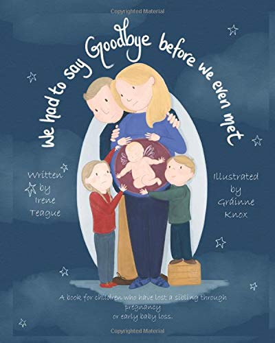 Compare Textbook Prices for We Had To Say Goodbye Before We Even Met: A book for children who have lost a sibling through pregnancy or early baby loss  ISBN 9781838161903 by Teague, Irene,Knox, Grainne