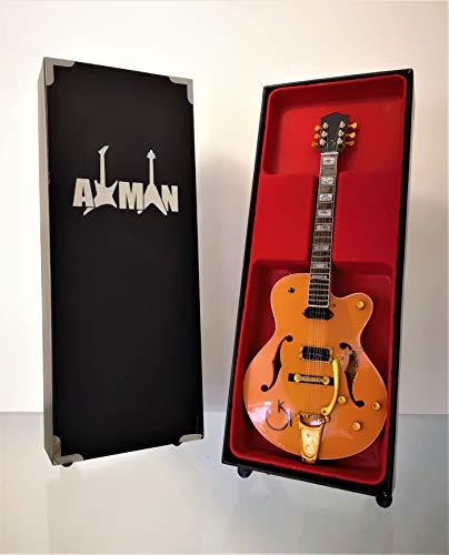 Eddie Cochran - Réplica de guitarra en miniatura con vitrina y soporte