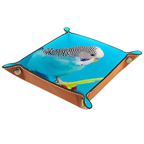 MUMIMI Waschtisch-Tablett, Toilettentank-Aufbewahrung, Kunstharz, Badewannentablett, Bad-Tablett, blauer Wellensittich, Papageien-Roller
