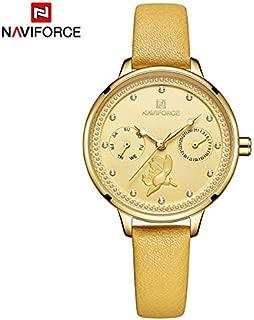 NAVIFORCE Women's Watches,3ATM Waterproof Fashion Slim Minimalist Casual Wristwatch 5003 (Yellow)