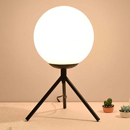 SXFYWYL postmoderne tafellamp bolvormige glazen bureaulamp slaapkamer woonkamer kinderkamer kantoorverlichting