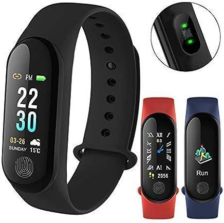 NALMAK R81 Sweatproof Smart Fitness Wrist Band with Heart Rate Sensor, Pedometer, Sleep Monitoring, Blood Pressure Functions for Nokia and Sony Smartphones (Black)