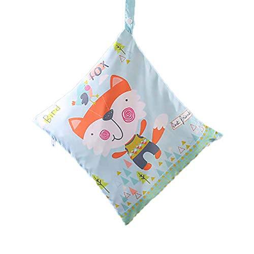 Xuxuou 1 Pcs Baby Wickeltasche Wasserdichte Wiederverwendbare Babywindel mit Reißverschluss Toilettenartikel Windelsäckchen(Kleiner Fuchs)