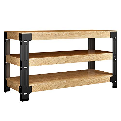 FLEXIMOUNTS Universal Steel Work Bench Leg Kit, Garage Storage Shelving Frame, Customizable in Sizes and Colors, Maximum 96' Length, 48' Width, 35.4' Height, Black,Lumber Not Included