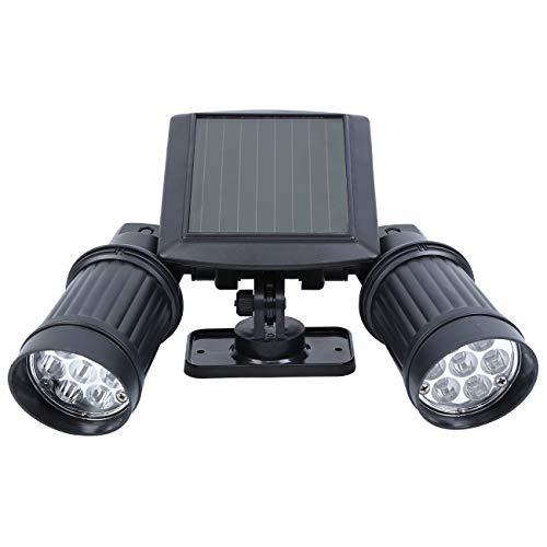 XuanYue Dubbele LED-zonnelamp, zonnelamp, schijnwerper met bewegingsmelder, energiebesparend, waterdicht, sensorlicht voor tuin, plafond, binnenplaats, hal