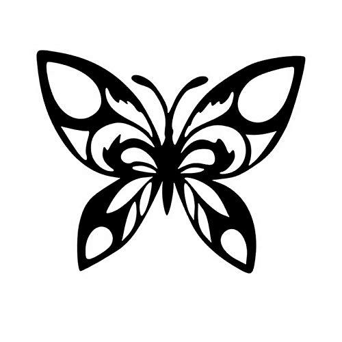 RUIRUI Adhesivo de vinilo para ventana de mariposa, diseño de coche, 12 x 9 cm, diseño de animales