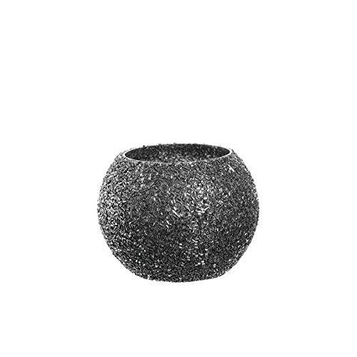 Leonardo - Aurora - Perlentischlicht/Teelichthalter - Glas/Perlen - (HxBxT) 8 x 10,5 x 10,5 cm/Ø 10,5cm - Handarbeit