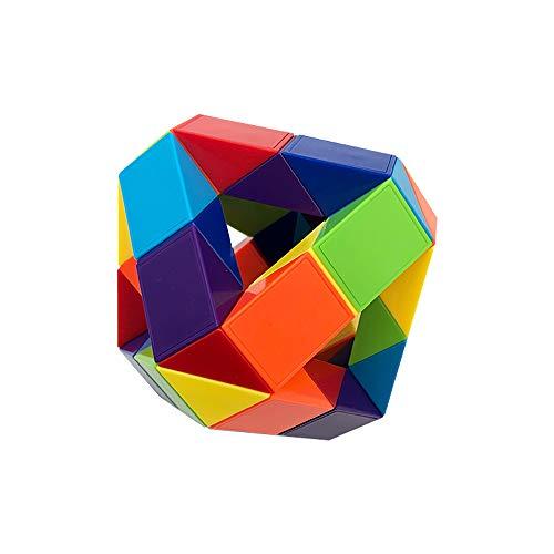 《BAR AUTOTECH》 3D立体パズル スネークキューブ スネークブロック ルービックスネーク スネークルーラー 片付け 簡単 楽しい 面白い 想像力 パズル DIY 脳トレ ブロック マジックスネークキューブ マジックルーラー パズル ゲーム おも