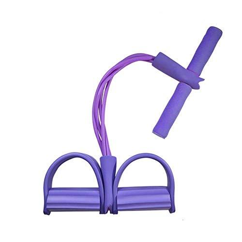 Junsen Pedal Resistance Bands, Super Light 4-Tube Sit-up Bodybuilding Expander for Yoga Stretching Slimming Training