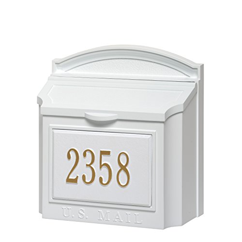 Customized Cast Aluminum Wall Mailbox with Custom Address Numbers Plaque 15'H x 14.5'W x 8'D