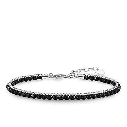 Thomas Sabo Damen-Armband Schwarz 925 Sterling Silber A1711-024-11-L19v