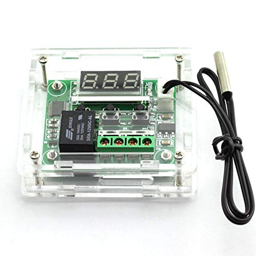 Temperature Controller DC 12V Digital Cooling/Heating Temp Thermostat -50-100 Degree Controlled Switch Module W1209 + Acrylic Box by Envistia Mall