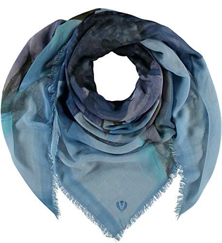 FRAAS Damen Sustainability Edition - Florales Tuch aus recyceltem Polyester nachhaltig & stylish Denim