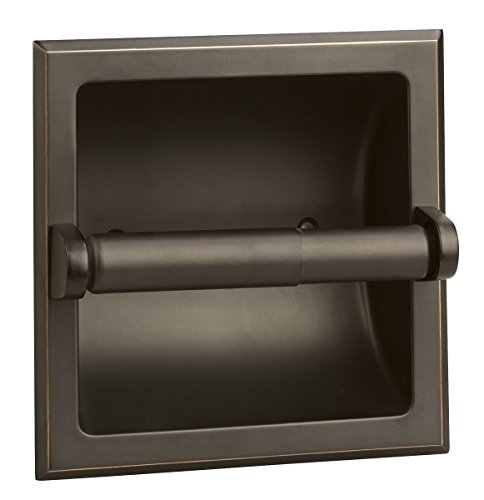 Design House 539254 Millbridge Bath Accessories, Recessed Toilet Paper Holder, Oil Rubbed Bronze
