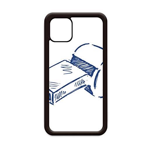 Cartoon Voetbal Fluitje Blauw Voetbal voor Apple iPhone 11 Pro Max Cover Apple mobiele telefoonhoesje Shell, for iPhone11