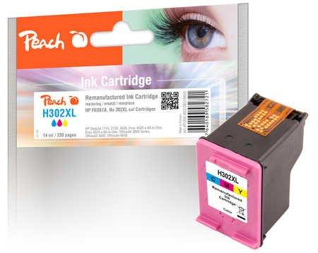 Peach Druckkopf color kompatibel zu HP No. 302XL col, F6U67A