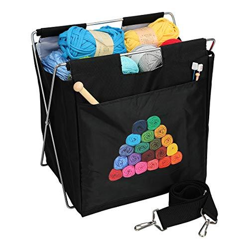 crochet sewing basket - 2