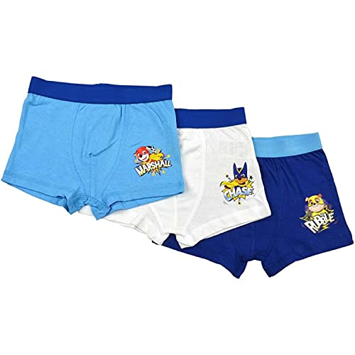 United Labels Paw Patrol Jungen Retro Boxershorts 3 Heroes , 3er Pack, Mehrfarbig Unterhose (122-128, Numeric_128)